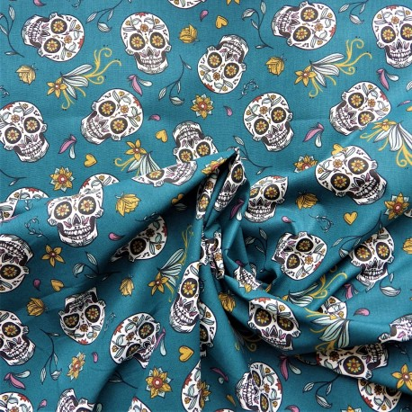 Tissu coton Calaveras : 7.80€