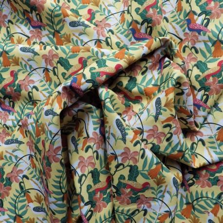 Tissu coton bio jungle : 9.50€