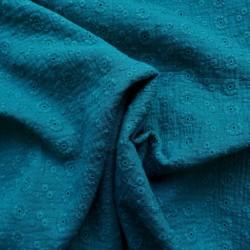Tissu double gaze brodée : 14.10€