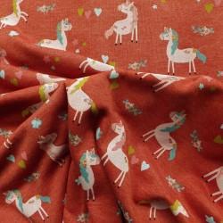 tissu sweat à licorne : 19.20€