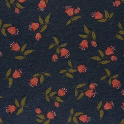 Tissu sweat chiné à fleurs brillantes : 19.20€