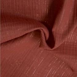 Tissu double gaze à rayures lurex: 11.85€