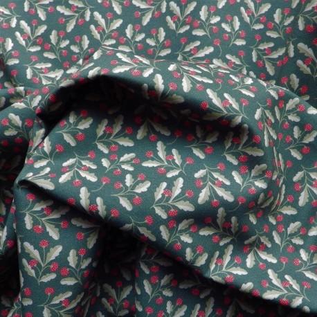 Tissu coton bio Houx : 9.50€