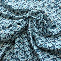 Tissu coton Kisnek bleu :  7.95€