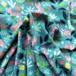 Tissu jersey coton jungle : 11.50€