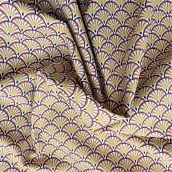 Tissu coton natté à éventail: 11.70€