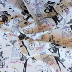 Tissu coton Moi Paris : 9.90€