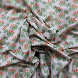 Tissu jersey coton Dinosaure :  11.50€