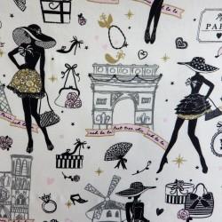 Tissu coton enduit Moi Paris :16.50€