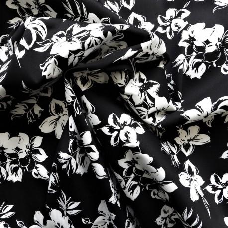 Tissu saton coton Black and white : 14.50€