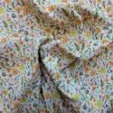 Tissu double gaze à fleurs :  11.50€