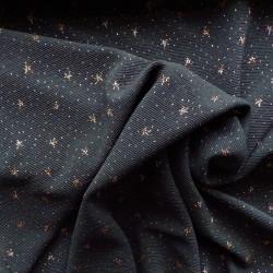 Tissu  jersey à côtes  avec lurex: 16.80€