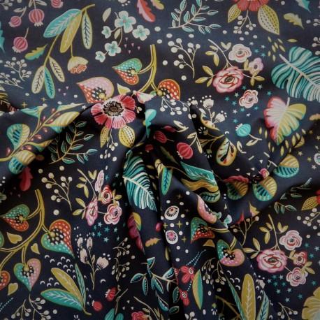 Tissu coton Ancolie :  8.50€