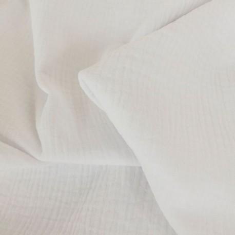 Tissu double gaze blanche : 8.50€