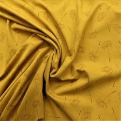 Tissu jersey à fleurs de pissenlit : 11.85€