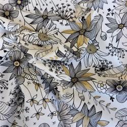Tissu coton natté à fleurs: 15.70€