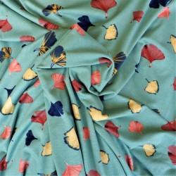 Tissu jersey viscose à Ginkgo : 11.85€