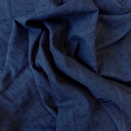 Tissu plumetis coton structuré : 11.70€
