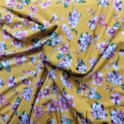 Tissu jersey à fleurs de cerises : 11.85€