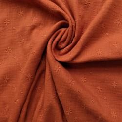 Tissu double gaze brodée : 13.50€