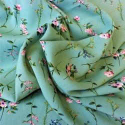 Tissu viscose à fleurs : 12.30€