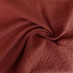 Tissu double gaze plumetis :11.85€