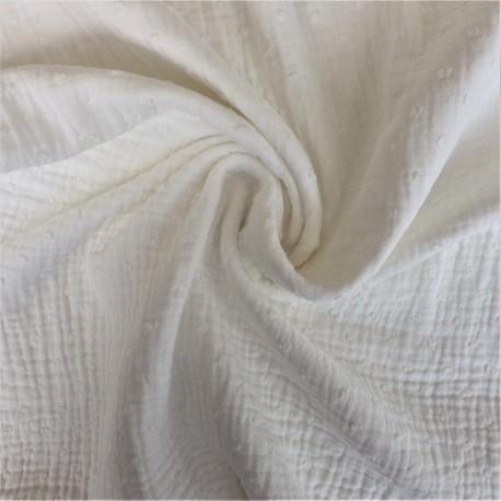 Tissu double gaze plumetis 11.85€