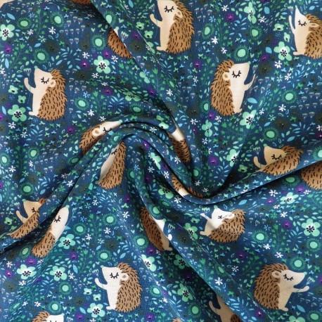 Tissu jersey coton à hérisson : 11.85€