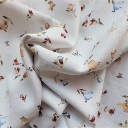 Tissu lin viscose  white : 13.60€
