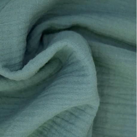 Tissu double gaze Eucalyptus : 8.50€
