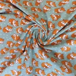 Tissu jersey coton renard : 11.50€