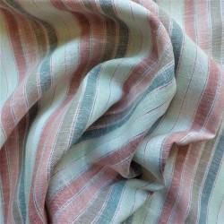 Tissu lin viscose à rayures lurex: 14.50€