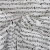 Tissu popeline coton notes de musique : 11.40€