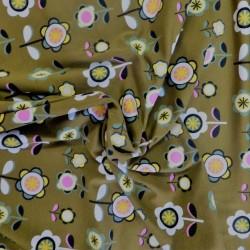 Tissu jersey coton flowers : 13.50€